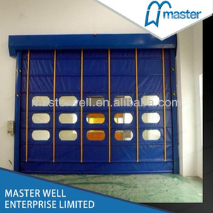 Internal Commercial High Speed PVC Stacking Doors