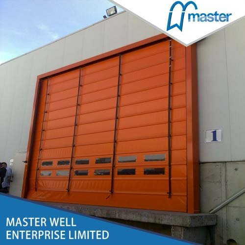 Self Repairing Commercial High Speed PVC Stacking Doors