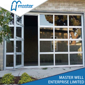 Small Frameless Anodized Aluminum Glass Garage Door