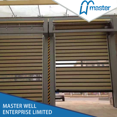 Easy Operational Factory Sound Proofing PU Foam Spiral High Speed Hard Fast Rolling Doors