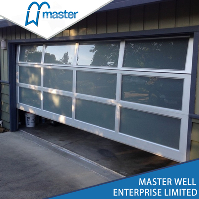 White Modern Insulated Glass Alumium Garage Door
