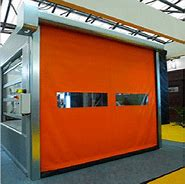 Insulated High Speed PVC Self Repairing Zipper Car Wash Doors