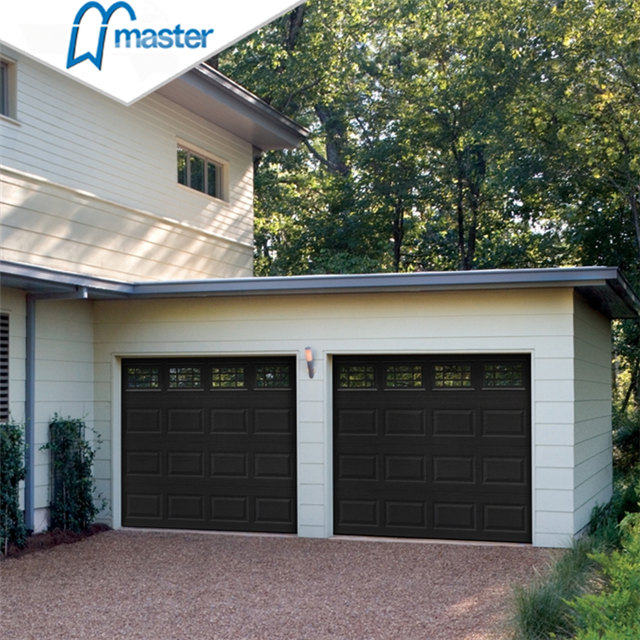 Automatic Universal Remote Commercial Full View White Metal Overhead Garage Doors with Window