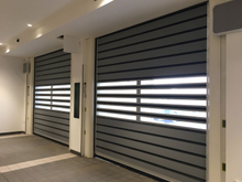 Airtight Garage Security Aluminum Spiral High Speed Hard Fast Rolling Doors
