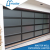 9x7 Commercial Tempered Glass Alumium Garage Door