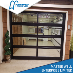Residential with Passing Door Plexiglass Glass Aluminum Garage Door