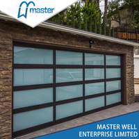 9x7 Residential Frosted Glass Alumium Garage Door