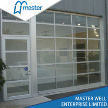 10x10 Modern Tempered Glass Alumium Garage Door