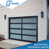 Black Modern Frosted Glass Alumium Garage Door