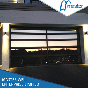 Small Frameless Insulated Aluminum Glass Garage Door