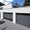 Motor Drive Commercial Weather Strip Single Tempered Glass Roll Up Garage Doors