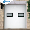 Electric Commercial Insulated Security Galvanized Steel Sandwich Overhead Garage Doors with Glass