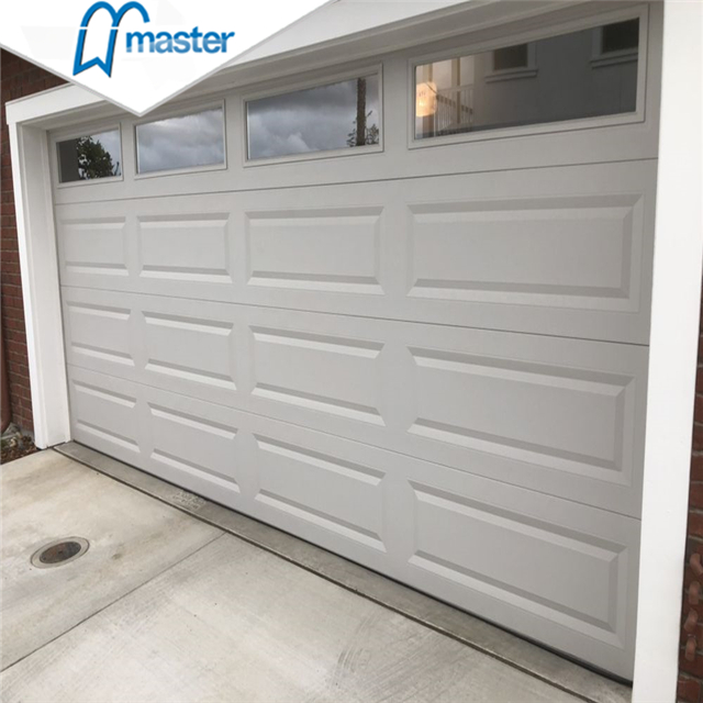 Universal Remote Commercial Security Steel PU Foaming Overhead Sectional Garage Doors