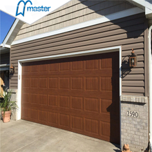 9x7 Commercial Overlap Trackless Double Metal Overhead Garage Doors with Pedestrian Door