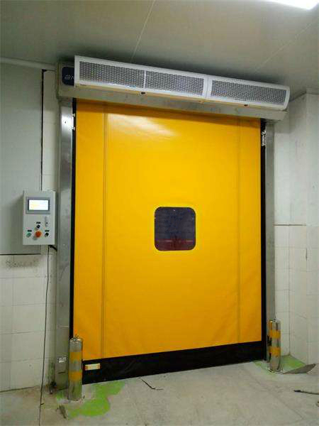 How to set high speed PVC zipper doors?