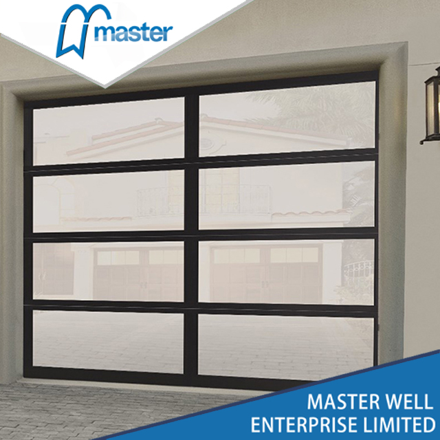 Living Room Modern Tempered Glass Alumium Garage Door