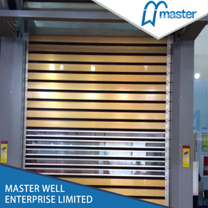Easy Operational Factory Sound Proofing PU Foam Spiral High Speed Hard Fast Roller Doors