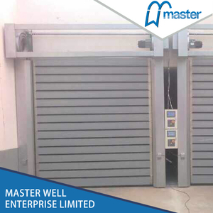 Electrical Commercial Anti-Wind Aluminum Alloy Spiral High Speed Hard Fast Shutter Doors