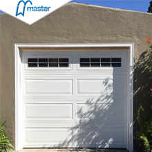 Precision Commercial Overlap Trackless Glass PU Foaming Overhead Sectional Garage Doors