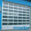 8'x8' Modern Anodized Aluminum Glass Garage Door
