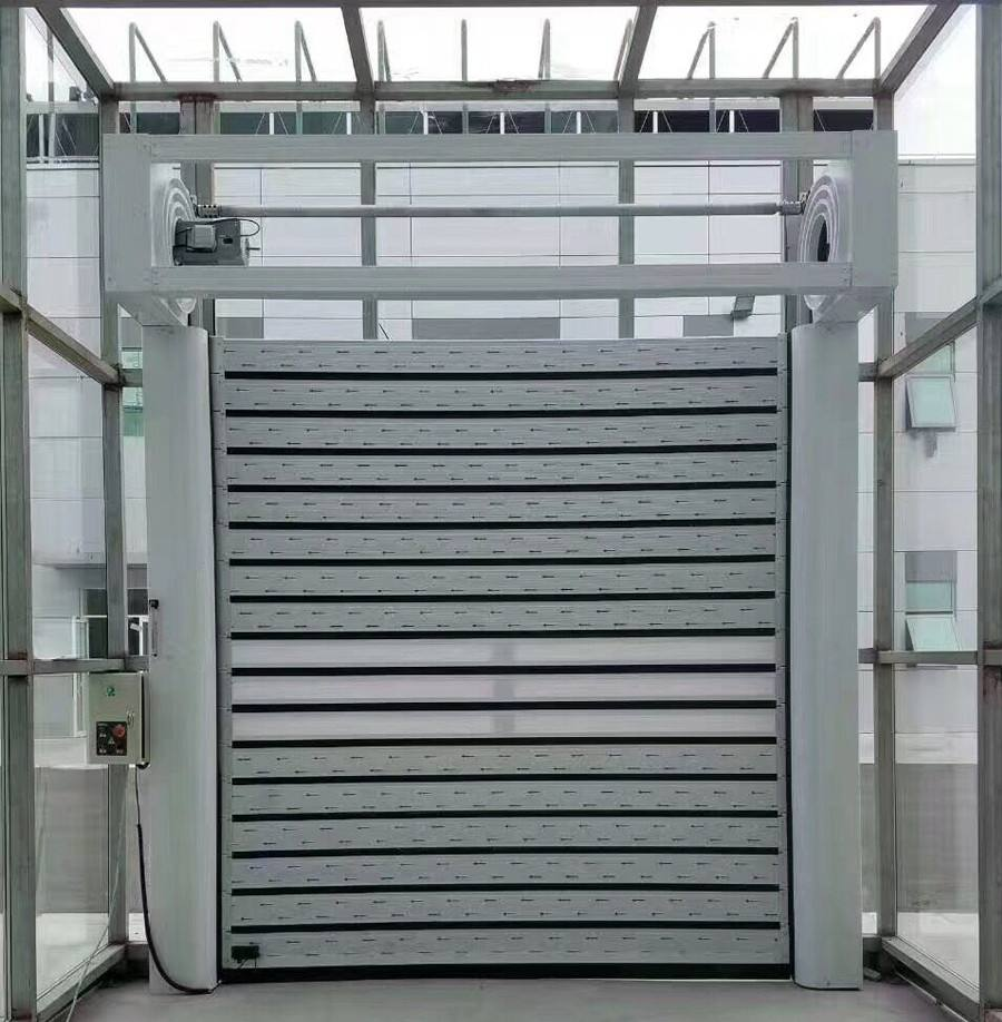 What is the construction of high speed spiral door?