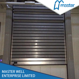 Simple Warehouses Temperature Proofing Fiberglass Spiral High Speed Hard Fast Roll Up Doors