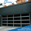 Restaurants Modern Frosted Glass Alumium Garage Door