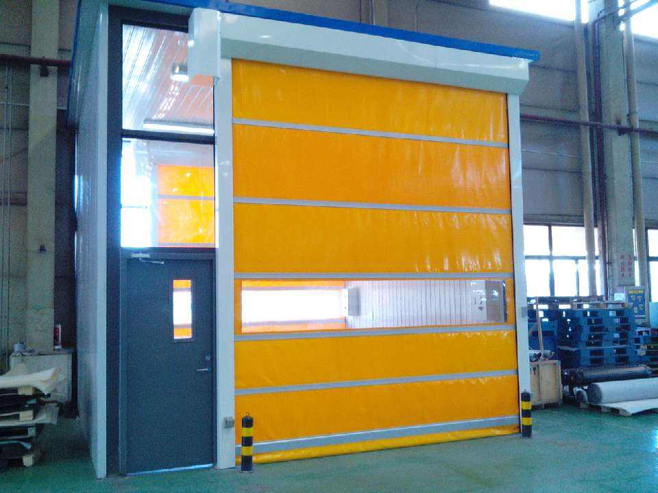 What's the frame of high-speed PVC self-repairing zipper door?
