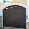 Rapid Commercial Security flush panel aluminum overhead garage doors with windows