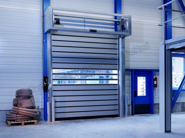 Electrical Commercial Anti-Wind Aluminum Alloy Spiral High Speed Hard Fast Rolling Doors