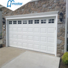 Universal Remote Carriage House Security Glass Aluminum Overhead Sectional Garage Doors