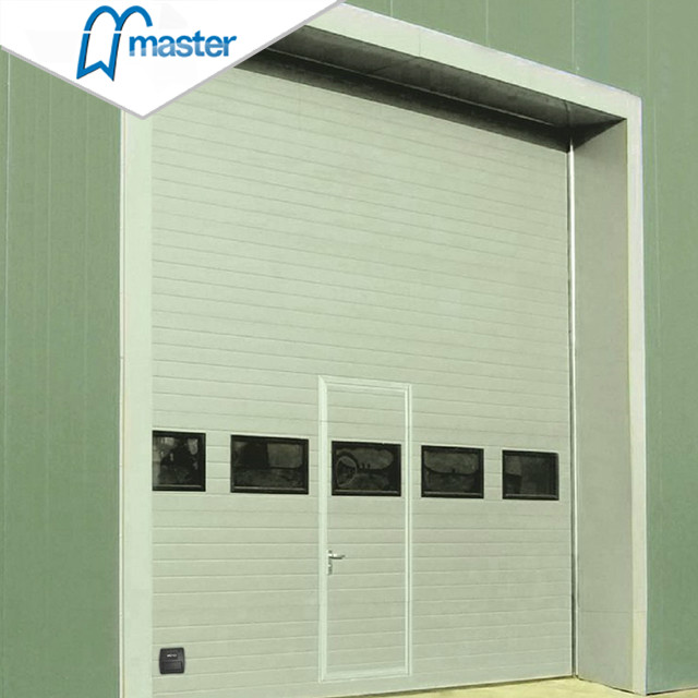 Electrical Aluminium steel Industrial Sliding Doors with entry