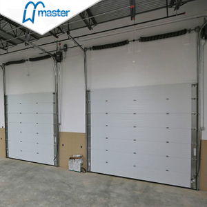 Electrical Vertical Lift Steel Industrial Sliding Doors with Sidelights