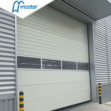 Wind Proof Thermal Insulated Steel Overhead Sectional Industrial Doors with Windows