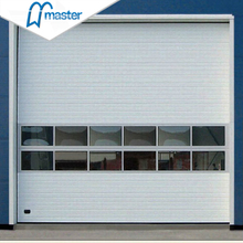 Electrical Steel Insulated Secure Industrial Fold Up Doors with Entrance