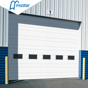 Automatic Galvanized Steel Secure Insulated Industrial Folding Doors With Glass