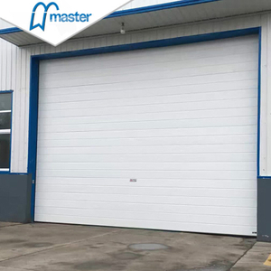 Automatic Pu Foam Insulated Industrial Folding Doors with Windows