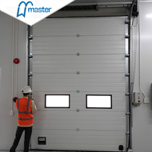 Automatic Aluminium Insulated Industrial Folding Doors with Windows